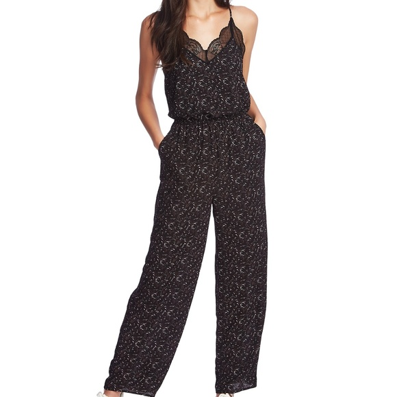 1. State Pants - [1.STATE] Lace-Trimmed Camisole Jumpsuit